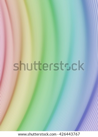 Abstract striped background. Rhythmic colorful lines.   with transparency. Spectrum background. Abstract composition with curve lines. Abstract 3d effect. Illusion of three dimensional surface. - stock photo