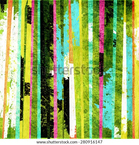 abstract stripes design on wood grain texture - stock photo