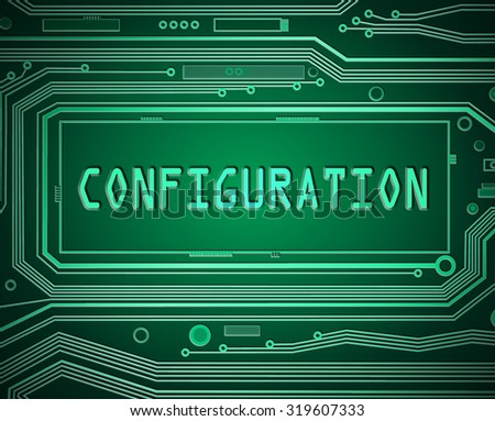 Abstract style illustration depicting printed circuit board components with a configuration concept. - stock photo