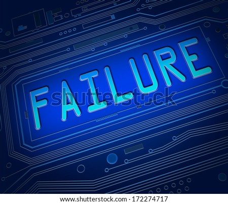 Abstract style illustration depicting printed circuit board components with a failure concept. - stock photo