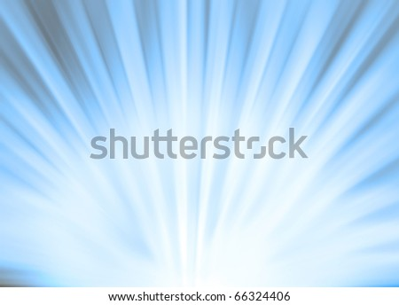 Abstract sun rays background in orange color - stock photo