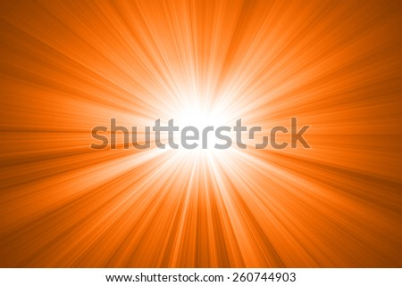 abstract sun with rays - stock photo