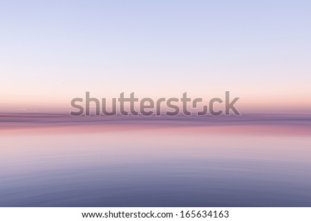 abstract sunset over ocean - stock photo