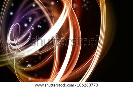 Abstract swirly lines futuristic space background - stock photo