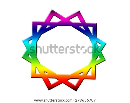 Abstract symbol - stock photo