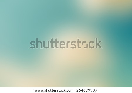 Abstract teal and sepia blurred background - stock photo