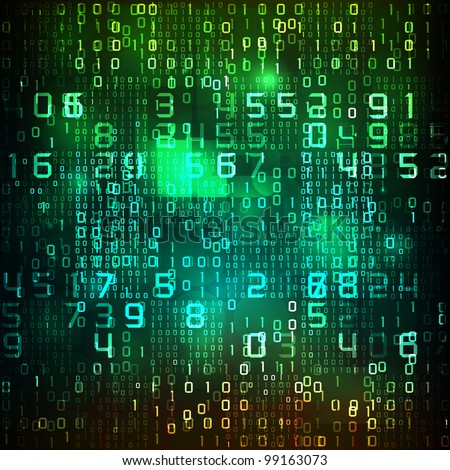 abstract tech background - stock photo