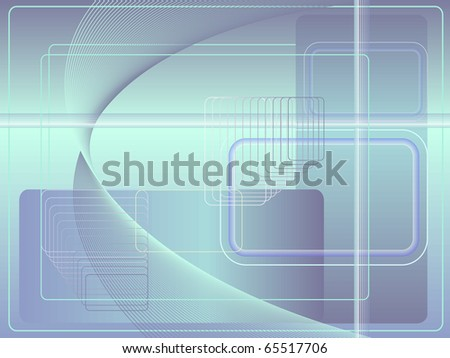 Abstract technological background in blue shades - stock photo