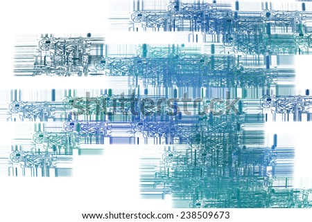 Abstract technology background - printed circuit - stock photo