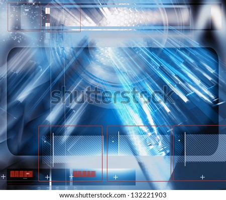 abstract technology composition - stock photo