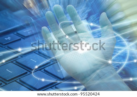 Abstract technology of the computer. - stock photo
