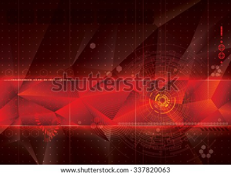 Abstract technology red background.  - stock photo