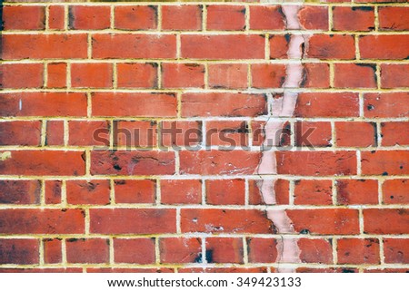 abstract texture of a ancient wall and ruined brick  - stock photo
