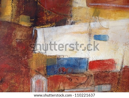Abstract textured background. Hand painted. - stock photo