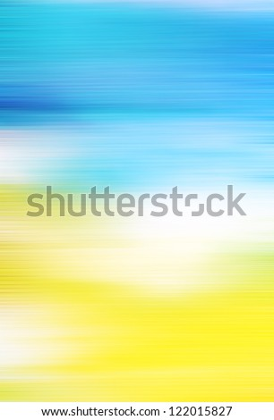 Abstract textured background: white and yellow patterns on blue sky-like backdrop. For art texture, grunge design, and vintage paper / border frame - stock photo
