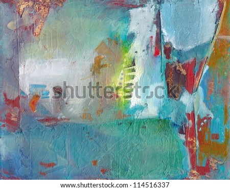 Abstract textured hand painted background - stock photo