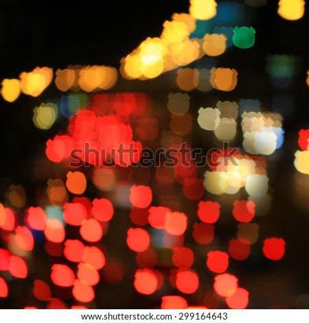 Abstract The Bear background from city light. - stock photo