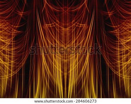 Abstract - Theater Curtains - Texture - stock photo