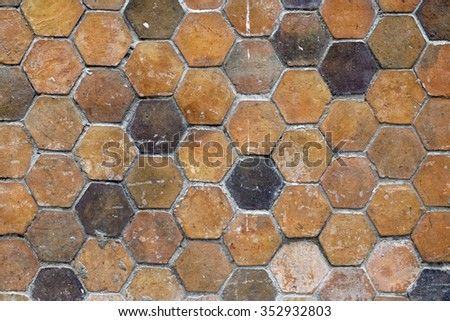 Abstract tiles wall texture background - stock photo