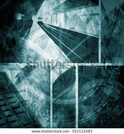 abstract time pass wallpaper duotone version - stock photo