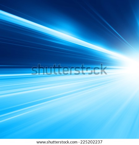 Abstract toned image of night traffic in the city. Motion blur. - stock photo