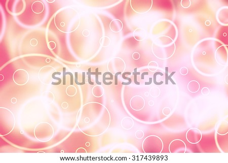 Abstract touchscreen circle shape bokeh computer background. Blurred circle red and yellow color bokeh illustration background. - stock photo