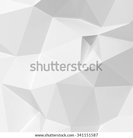 Abstract triangle background. 3d render - stock photo