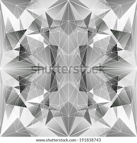 Abstract Triangle Geometrical Gray Background, Raster Version - stock photo