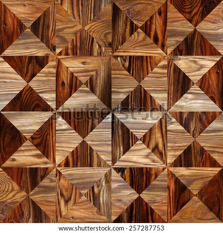 Abstract triangle pattern - seamless background - wood texture - stock photo