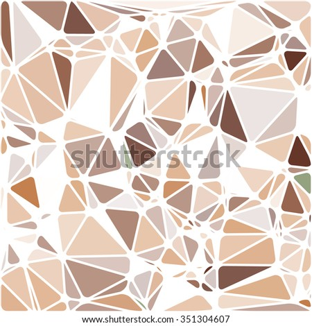 Abstract Triangle Polygonal Geometrical Background, Illustration. Geometric design frame for business presentations, flyers, banners, brochures, leaflets, web. Chocolate brown - stock photo