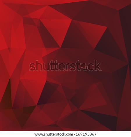 Abstract triangle red background. Raster version of vector. - stock photo