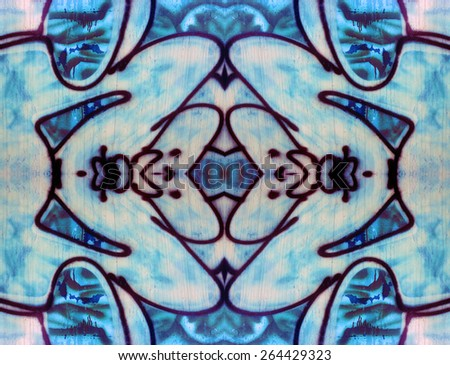 Abstract Tribal Design seamless pattern has an ethnic totem allure. - stock photo