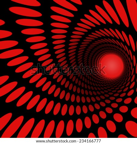 abstract tunnel from a spiral with dots for background - stock photo