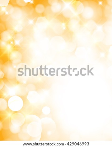 Abstract twinkled bright background with bokeh defocused golden lights - stock photo
