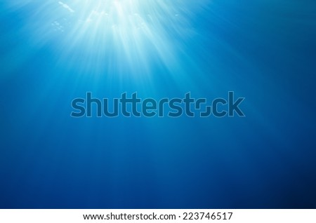 abstract underwater background - stock photo