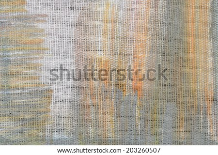 Abstract unusual brown and grey colorful tender painted canvas background texture - stock photo