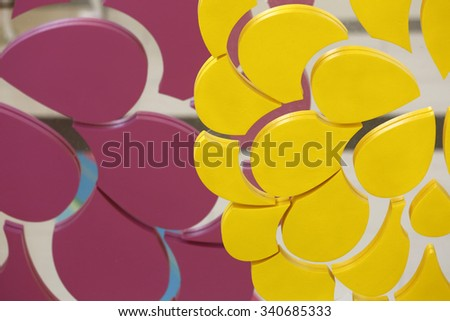 Abstract Various shape of design Decorative color - stock photo