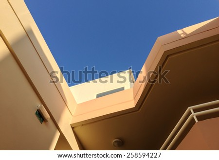 Abstract view of a hotel building.  - stock photo