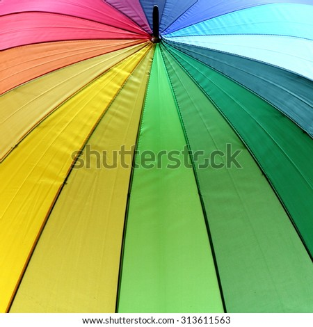 Abstract View of Colorful Umbrella - stock photo