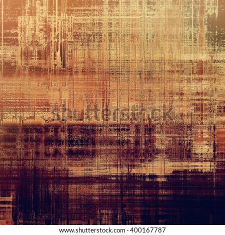 Abstract vintage background with faded grungy texture. Aged backdrop with different color patterns: yellow (beige); brown; red (orange); purple (violet); gray - stock photo