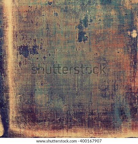 Abstract vintage background with faded grungy texture. Aged backdrop with different color patterns: yellow (beige); brown; blue; red (orange); purple (violet) - stock photo