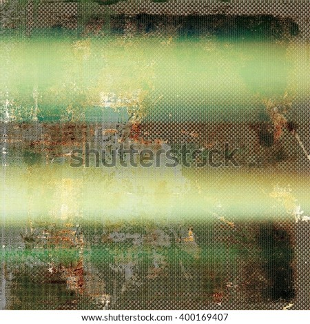 Abstract vintage background with faded grungy texture. Aged backdrop with different color patterns: yellow (beige); brown; green; gray; cyan - stock photo