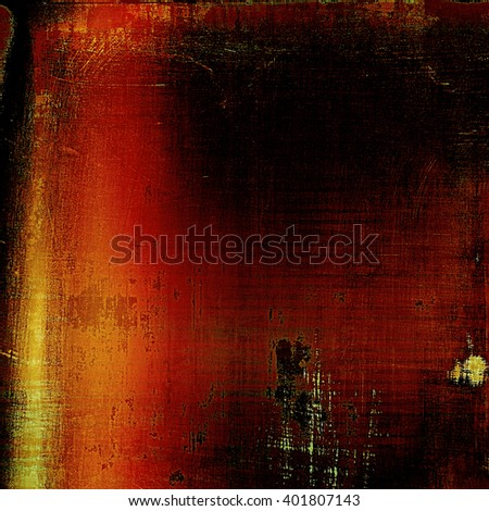 Abstract vintage background with faded grungy texture. Aged backdrop with different color patterns: yellow (beige); brown; red (orange); black - stock photo