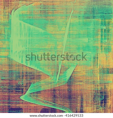 Abstract vintage background with faded grungy texture. Aged backdrop with different color patterns: yellow (beige); brown; green; blue; purple (violet); pink - stock photo