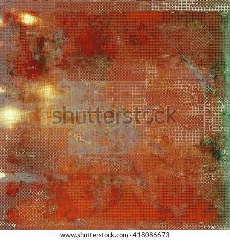 Abstract vintage background with faded grungy texture. Aged backdrop with different color patterns: yellow (beige); brown; green; gray; red (orange); pink - stock photo