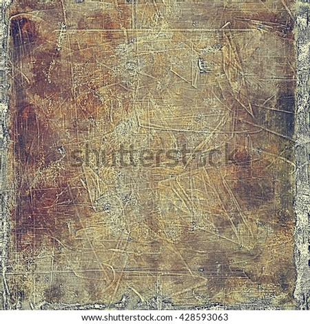 Abstract vintage background with faded grungy texture. Aged backdrop with different color patterns: yellow (beige); brown; red (orange); gray; purple (violet) - stock photo