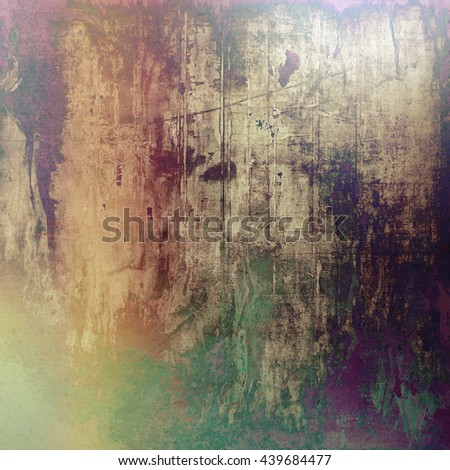 Abstract vintage background with faded grungy texture. Aged backdrop with different color patterns: yellow (beige); brown; green; purple (violet); gray; pink - stock photo