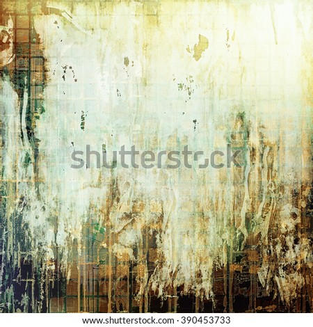 Abstract vintage background with faded grungy texture. With different color patterns: yellow (beige); brown; green; gray; white - stock photo