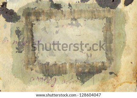 abstract vintage background with frame - stock photo