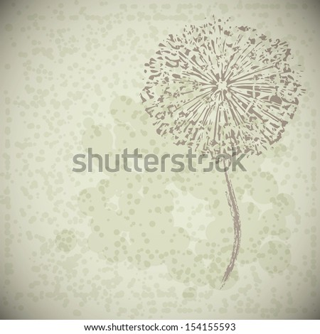 abstract vintage flower - stock photo